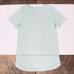 Lululemon Heathered Green Gym Workout Top S / 4